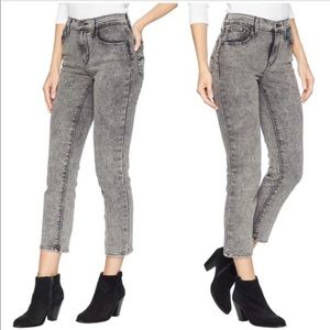 Levi's 724 High Rise Gray straight crop jeans